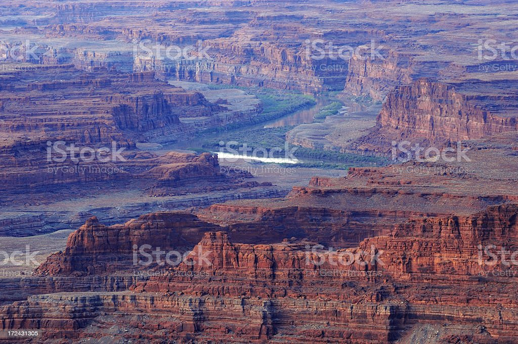 Dead Horse Point Landscape in the morning royalty-free stock photo