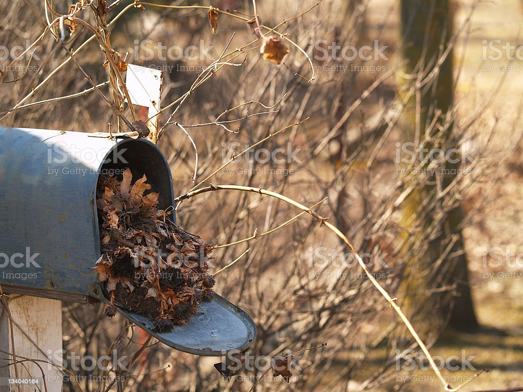 Dead Mail stock photo