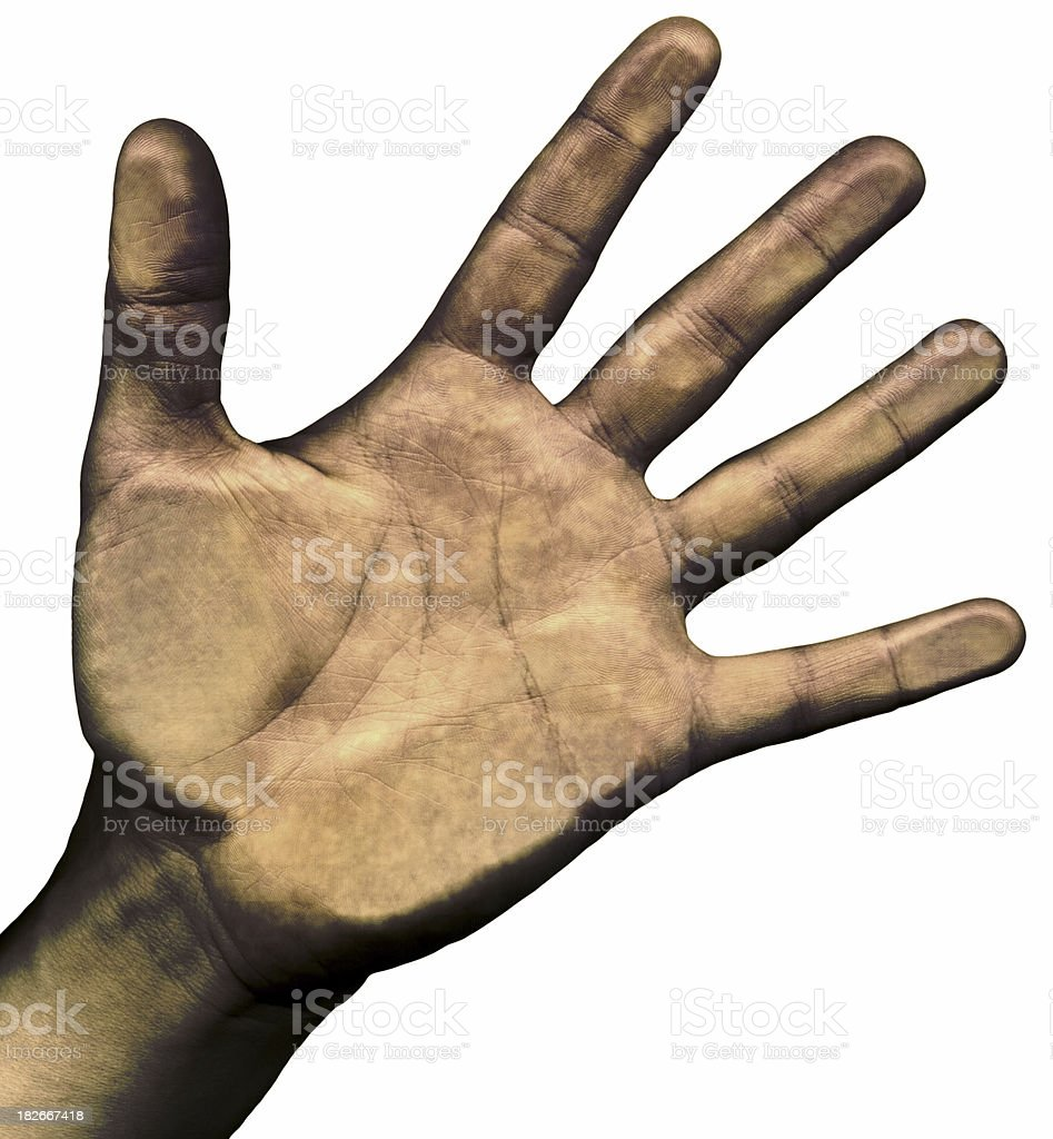 Dead man's hand royalty-free stock photo