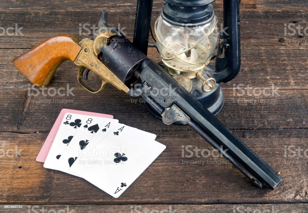 Dead Mans Hand. royalty-free stock photo