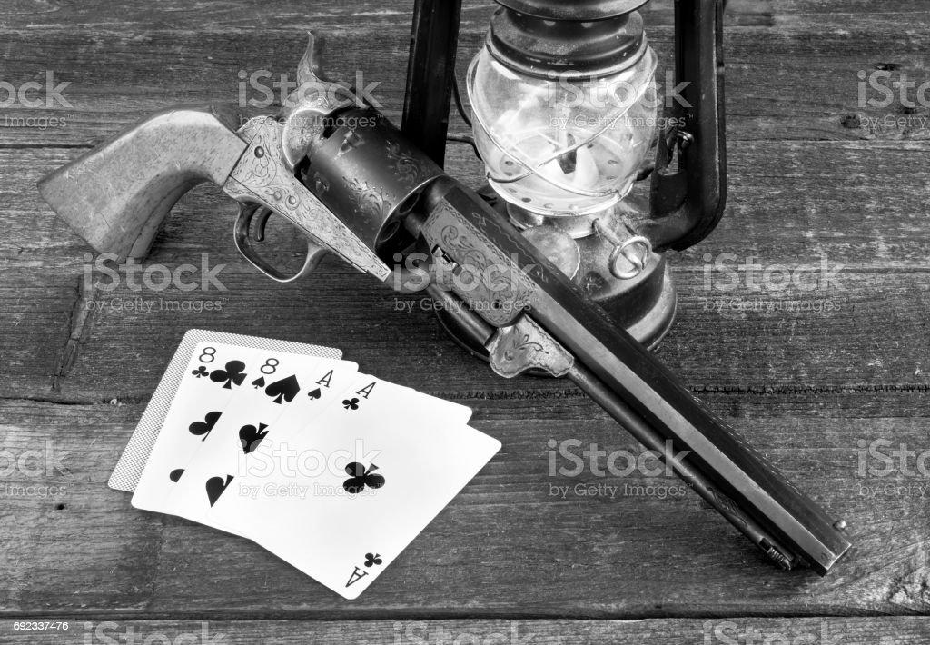 Dead Mans Poker Hand. stock photo