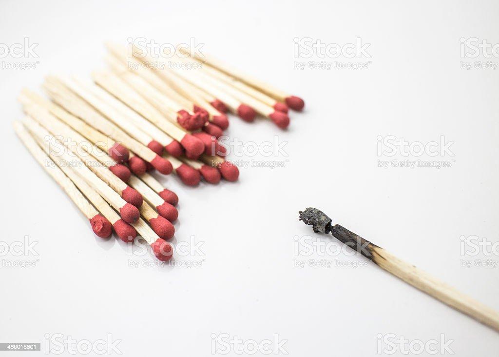 Dead Match stock photo