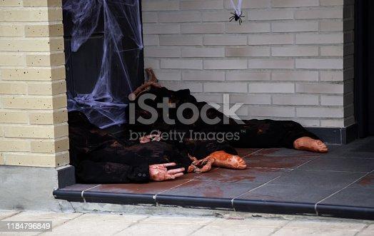 Dead in Halloween Street, fear and murder, crime