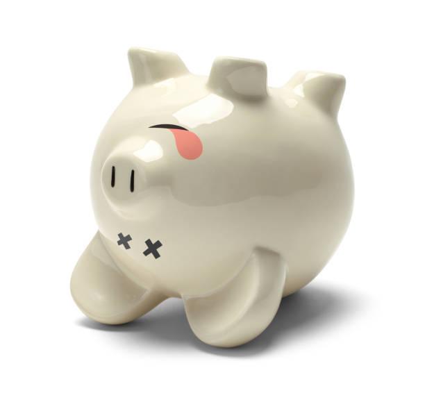 Dead Piggy Bank stock photo