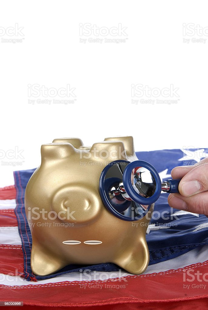 Dead piggy bank royalty-free stock photo