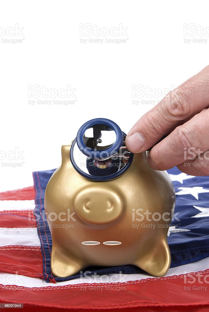 Dead piggy bank royalty-free stock photo
