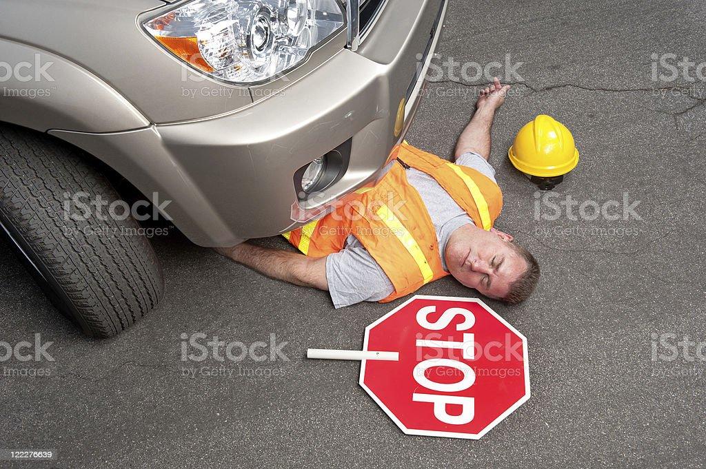 Dead road trabalhador - foto de acervo