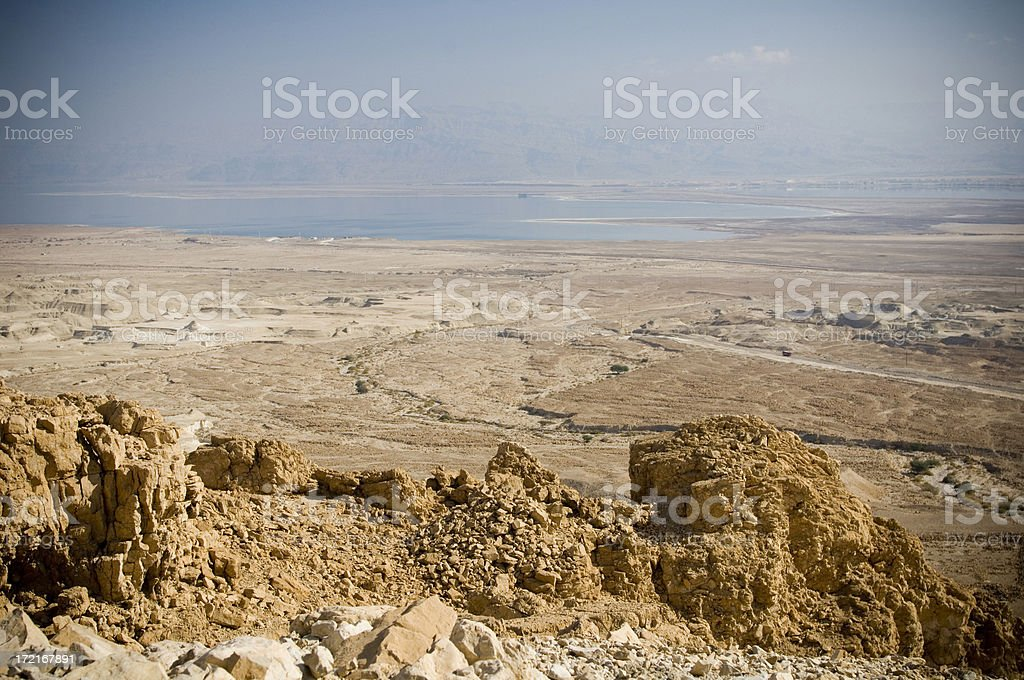 Dead sea and desert royalty-free stock photo