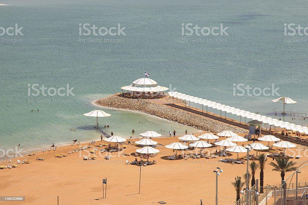 Dead sea beach. Israel. royalty-free stock photo