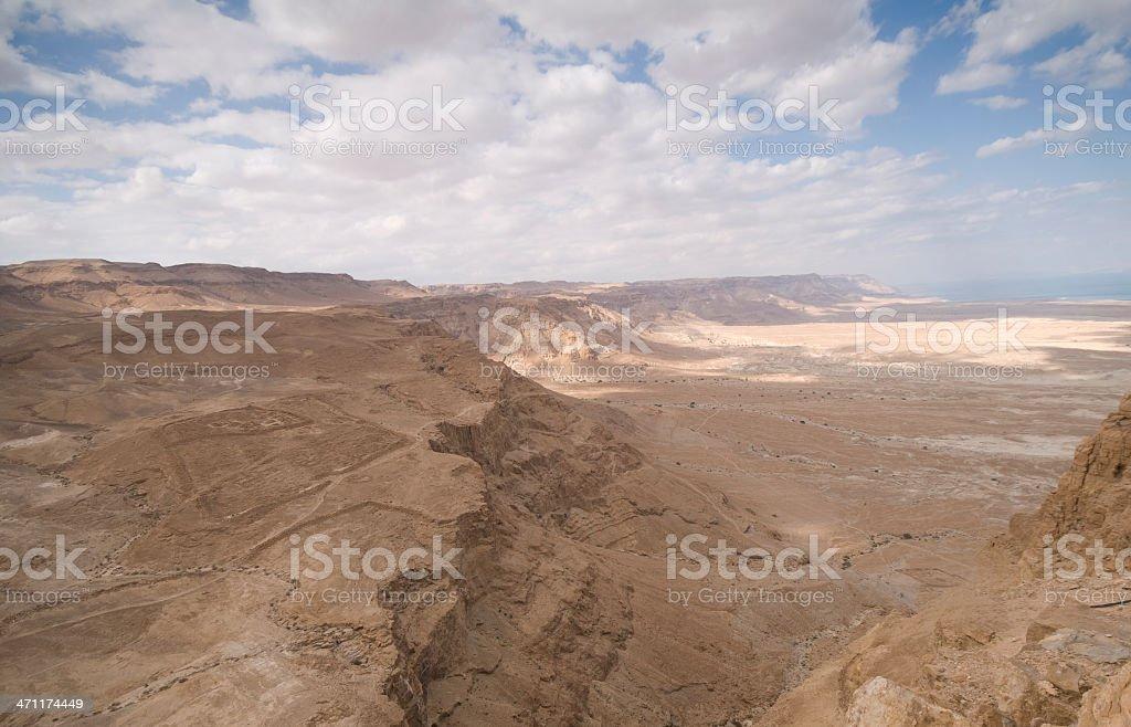 Dead sea from Masada National park, Israel royalty-free stock photo