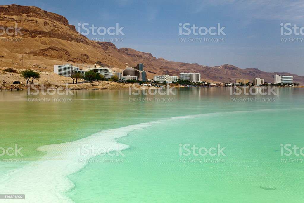 \'The main hotel resort area of the Dead Sea, located at the southern...
