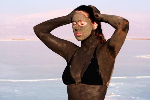 Dead Sea Minerals - Israel stock photo