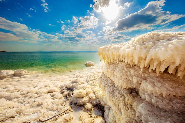 dead sea salt - morze martwe zdjęcia i obrazy z banku zdjęć
