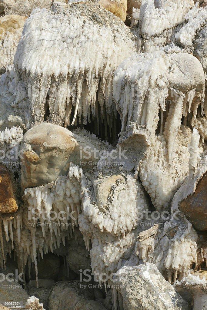 Dead sea. Salt. royalty-free stock photo