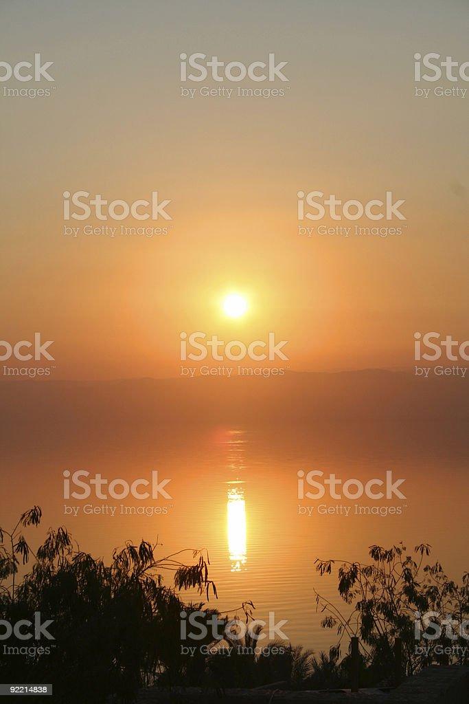 Dead Sea Sunset royalty-free stock photo