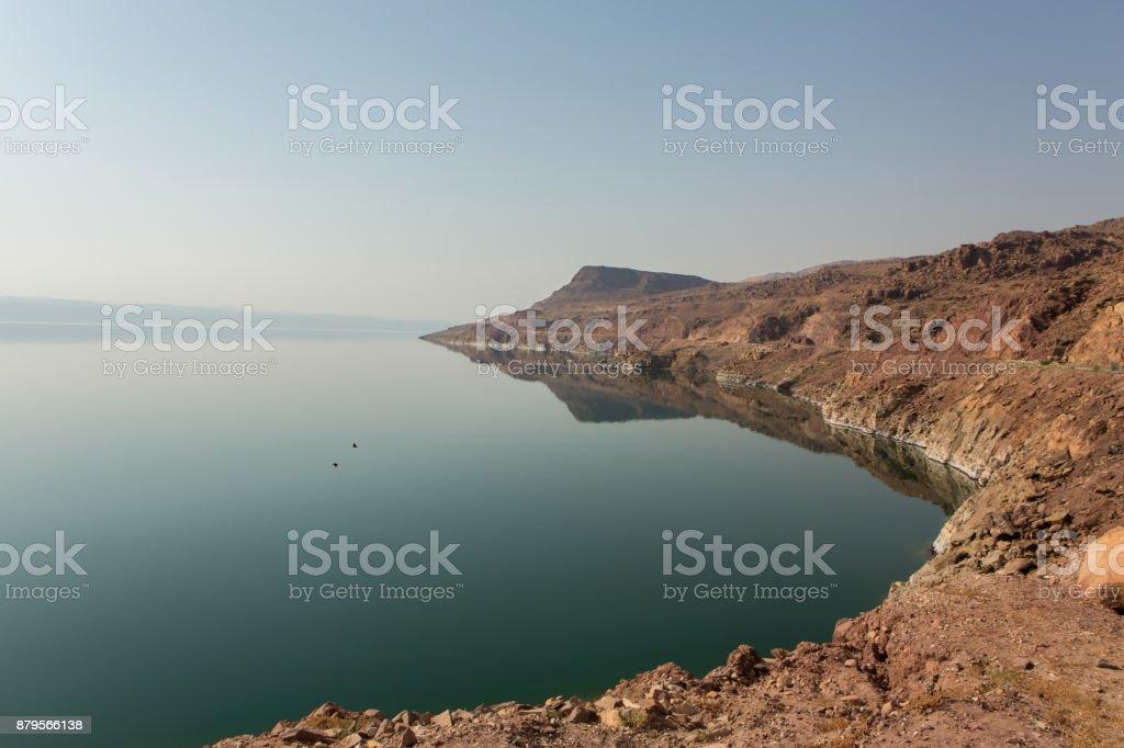 Dead Sea view in Jordan stock photo