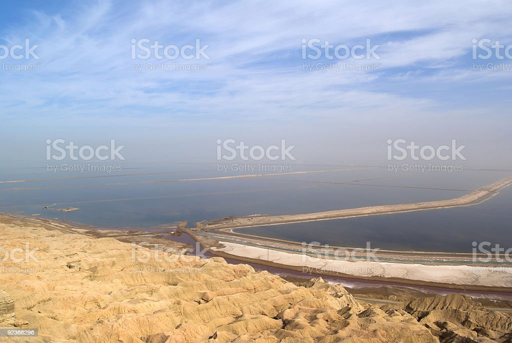 Dead sea view royalty-free stock photo