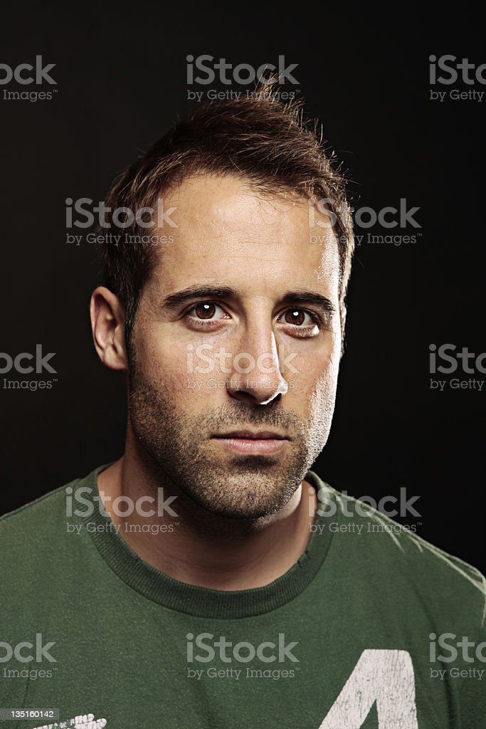 Dead serious royalty-free stock photo