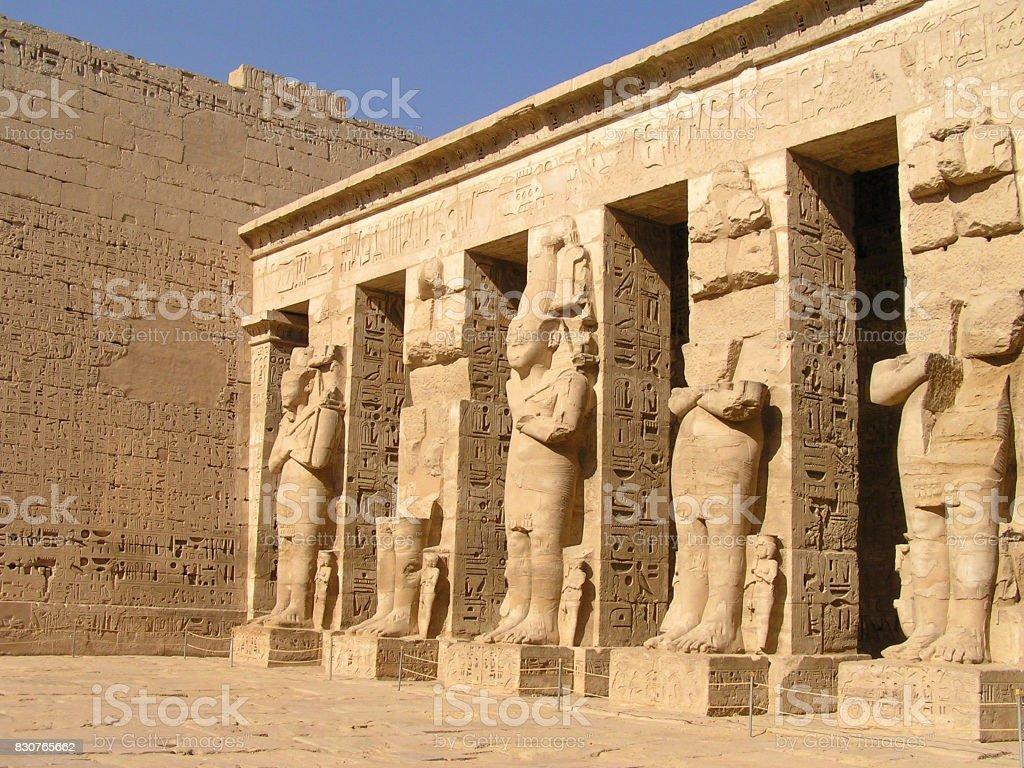 Dead Temple of Ramses III stock photo
