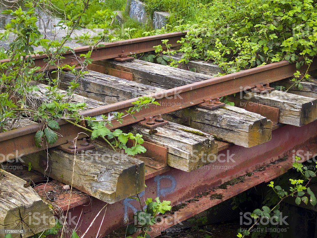 dead-end track stock photo