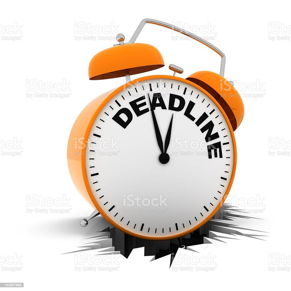 Deadline Alarm Clock stock photo