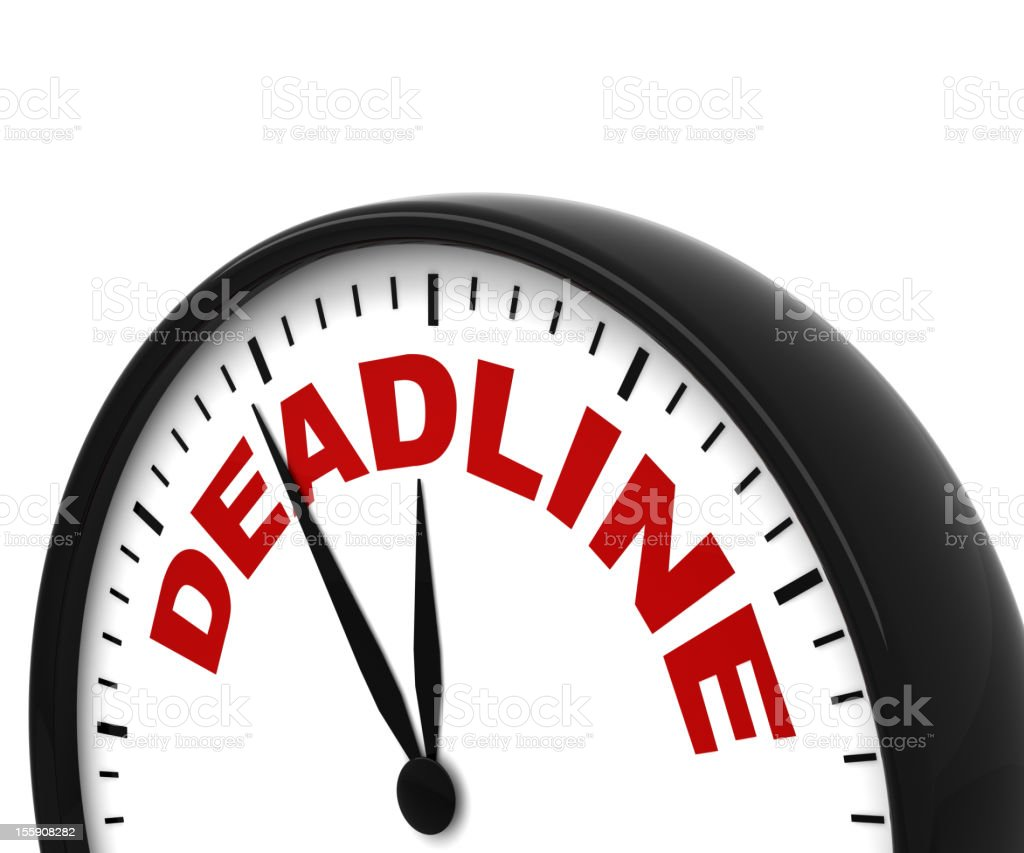 Deadline Clock royalty-free stock photo