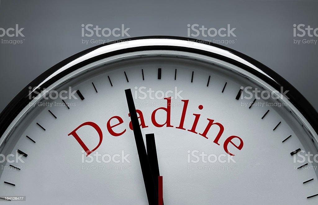 Deadline concept stock photo
