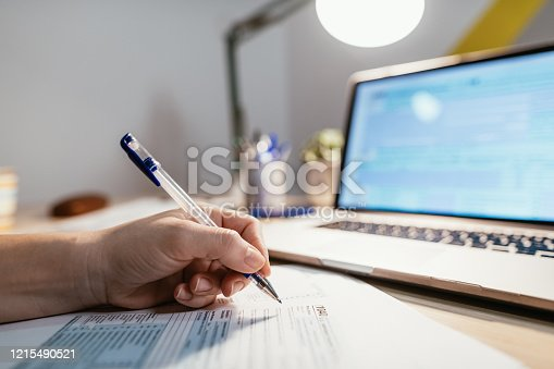 istock Deadline for submission of tax forms is July 15 instead of April 15 due to pandemic Coronavirus 1215490521