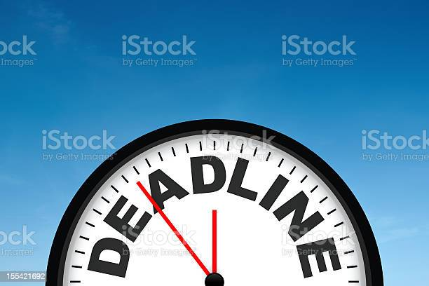 Deadline picture id155421692?b=1&k=6&m=155421692&s=612x612&h=oxlpz0bw1viwzms922tsosr5u fgc vbevmo1gra94q=