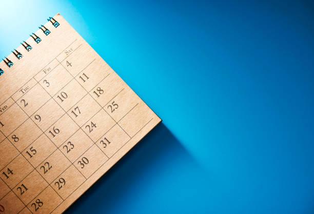 Kalender mit Fokus auf der Ende des Monats – Foto