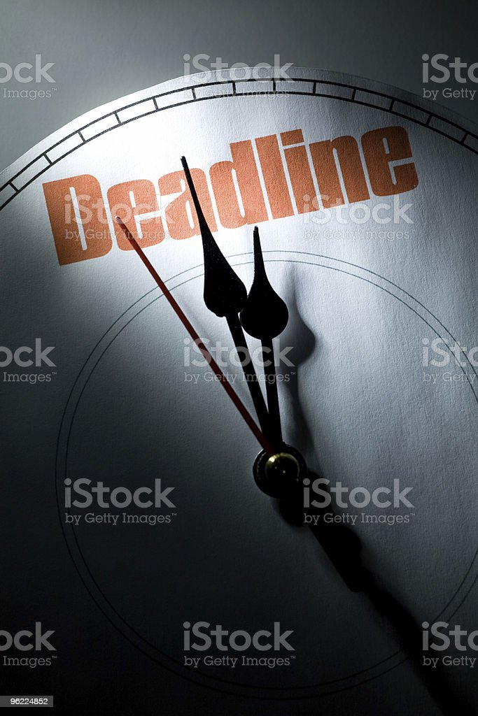 deadline royalty-free stock photo