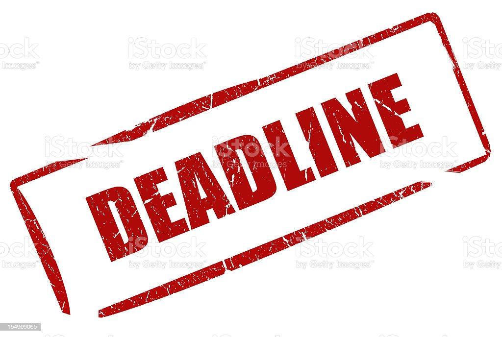 Deadline stamp stock photo