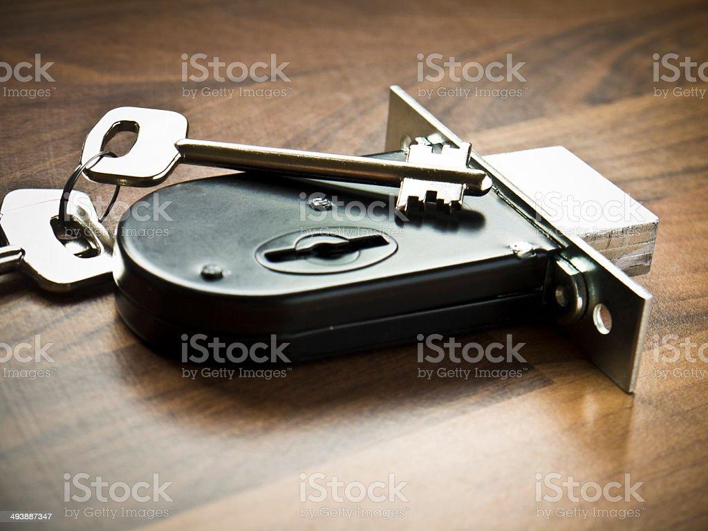 Deadlock with keys stock photo