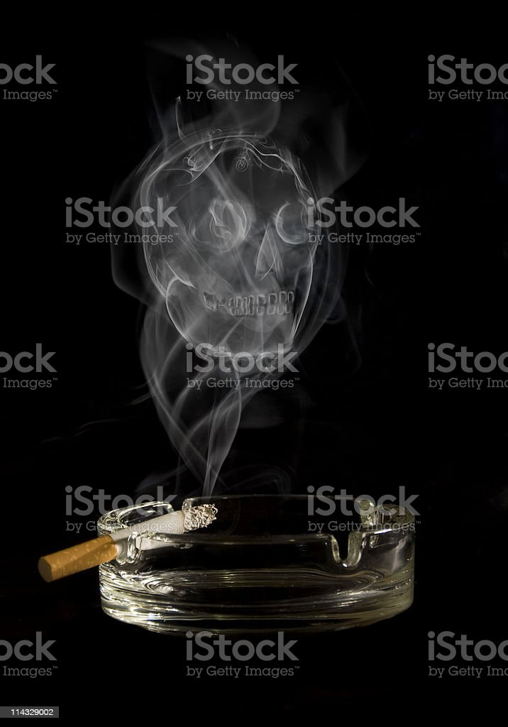 deadly cigarette royalty-free stock photo