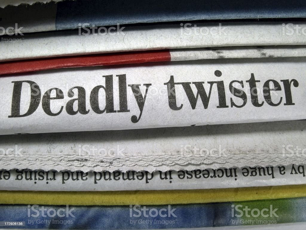 Deadly Twister royalty-free stock photo