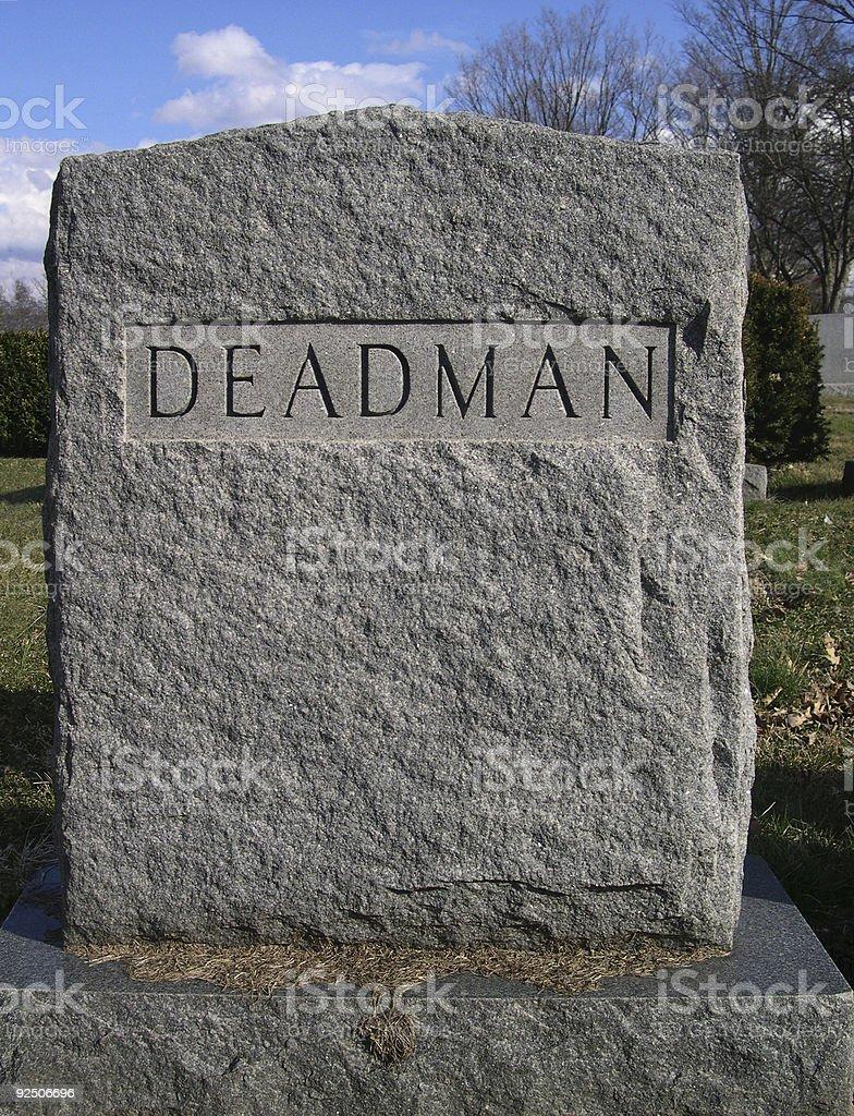 Deadman royalty-free stock photo