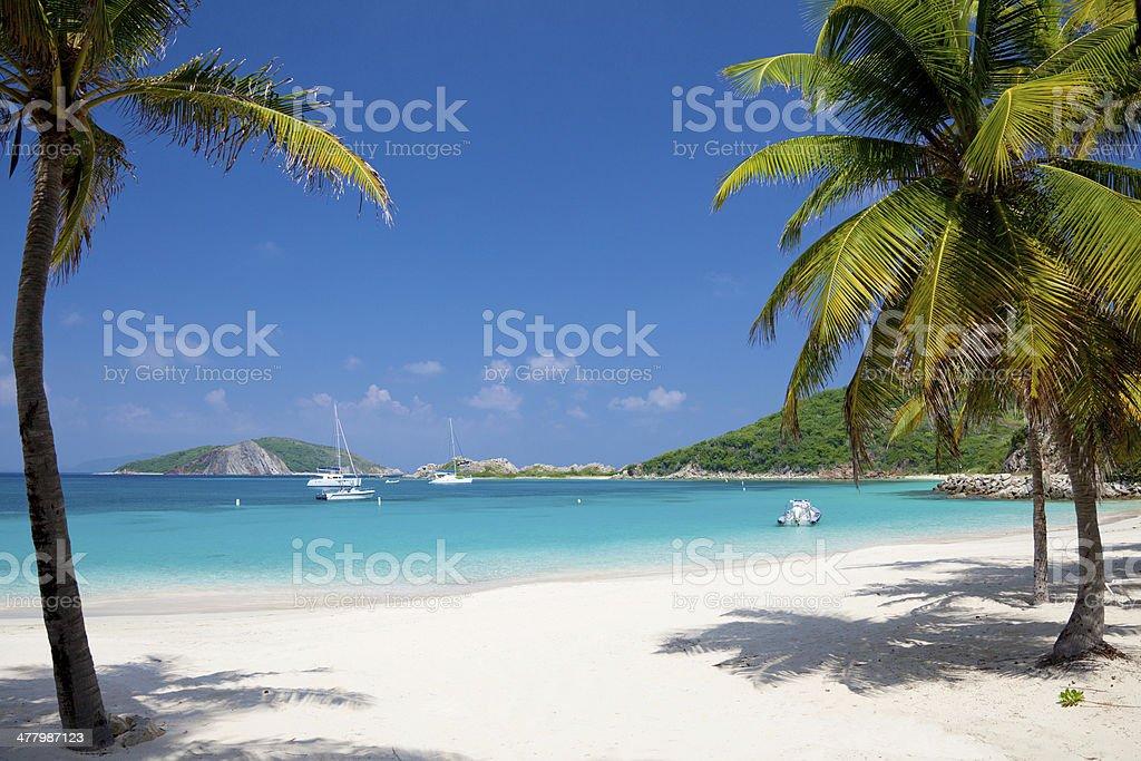 Deadman's Beach at Peter Island, BVI stock photo