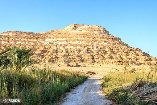 980314112 istock photo deads mountain of pharaohs and small road. 494753926