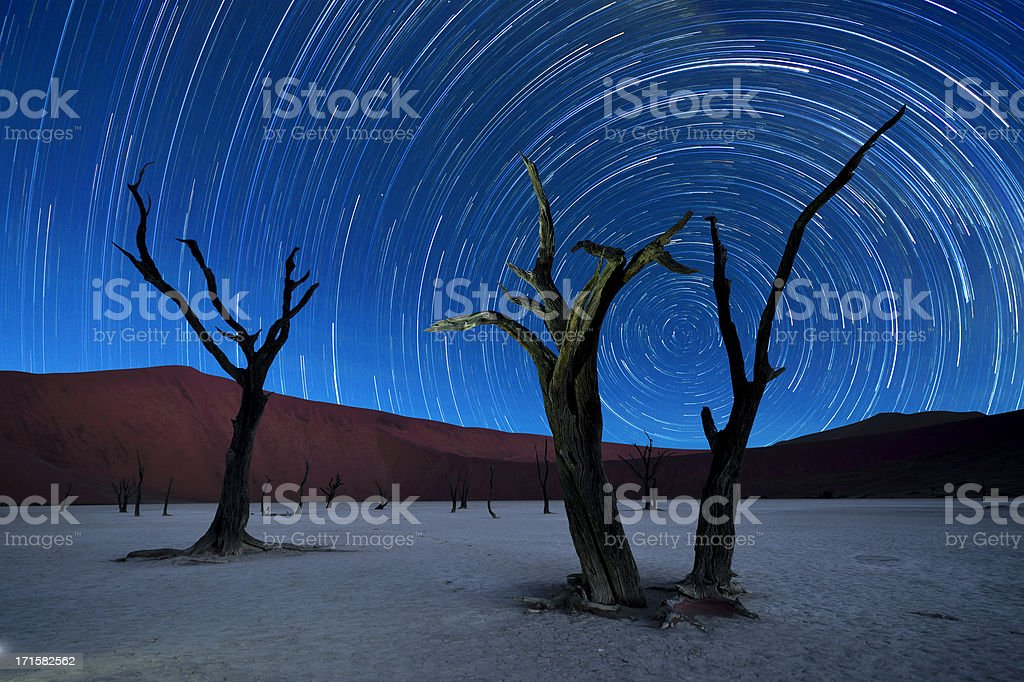 Deadvlei with startrails stock photo