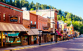 Historic Main Street.\nDeadwood, South Dakota, USA