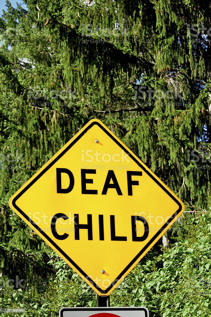 Deaf Child Sign royalty-free stock photo