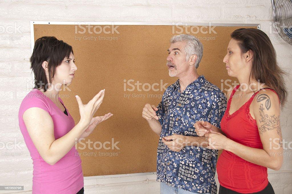 Deaf Conversation royalty-free stock photo