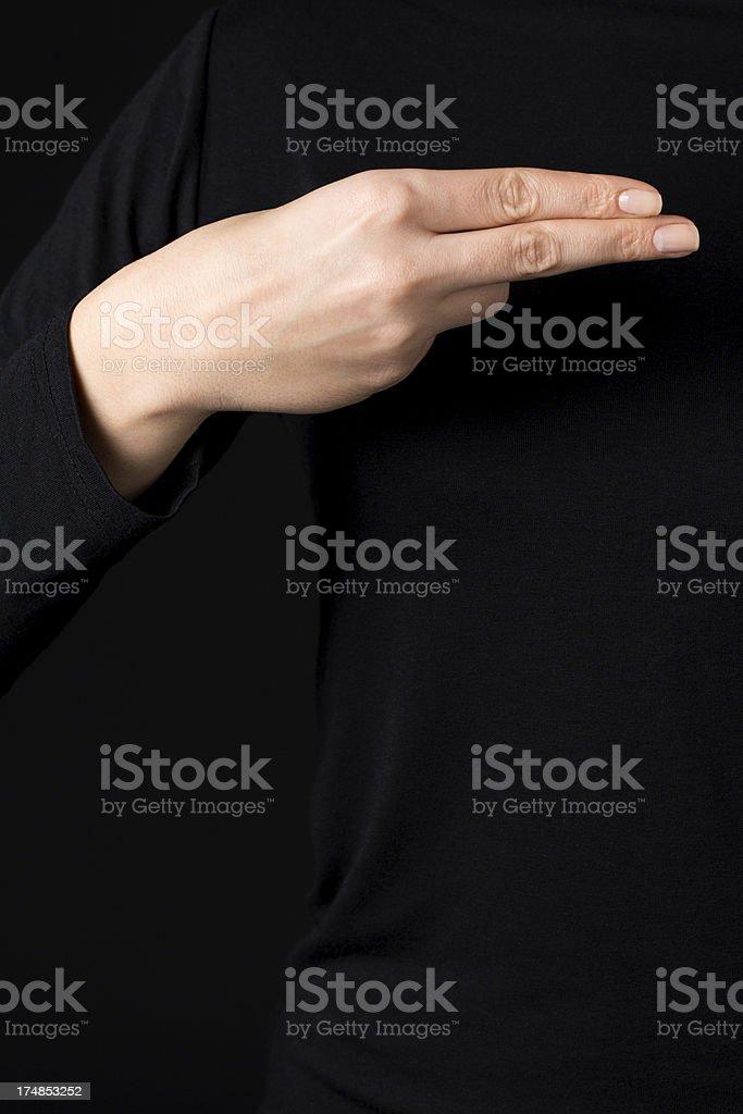 Tuvo signos de letra H - foto de stock