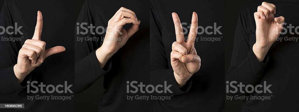 Deaf signs royalty-free stock photo