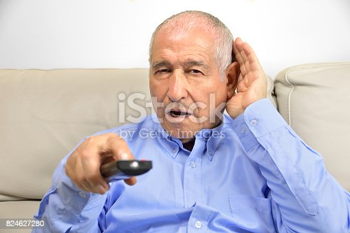 1029343276istockphoto Deafness of a man 824627280
