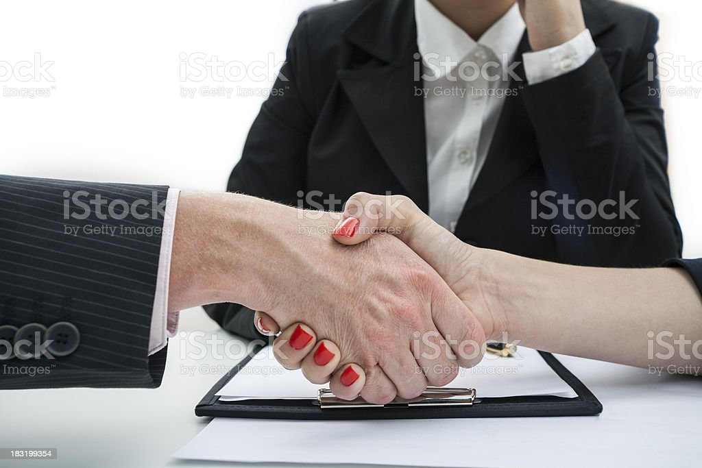 Deal, business handshake stock photo