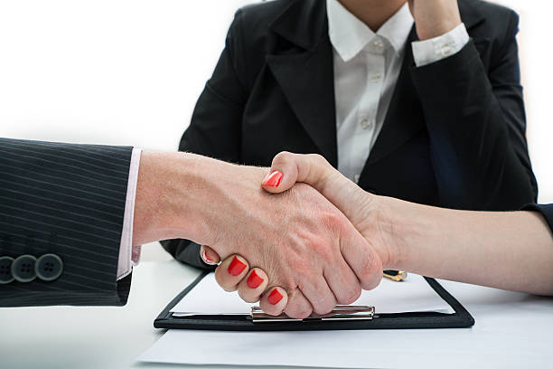 Deal, business handshake stock photo