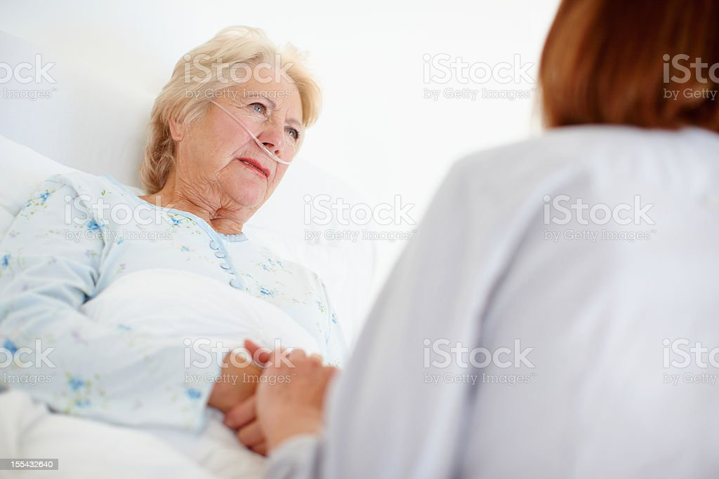 Dealing with disappointing news - Senior Health stock photo