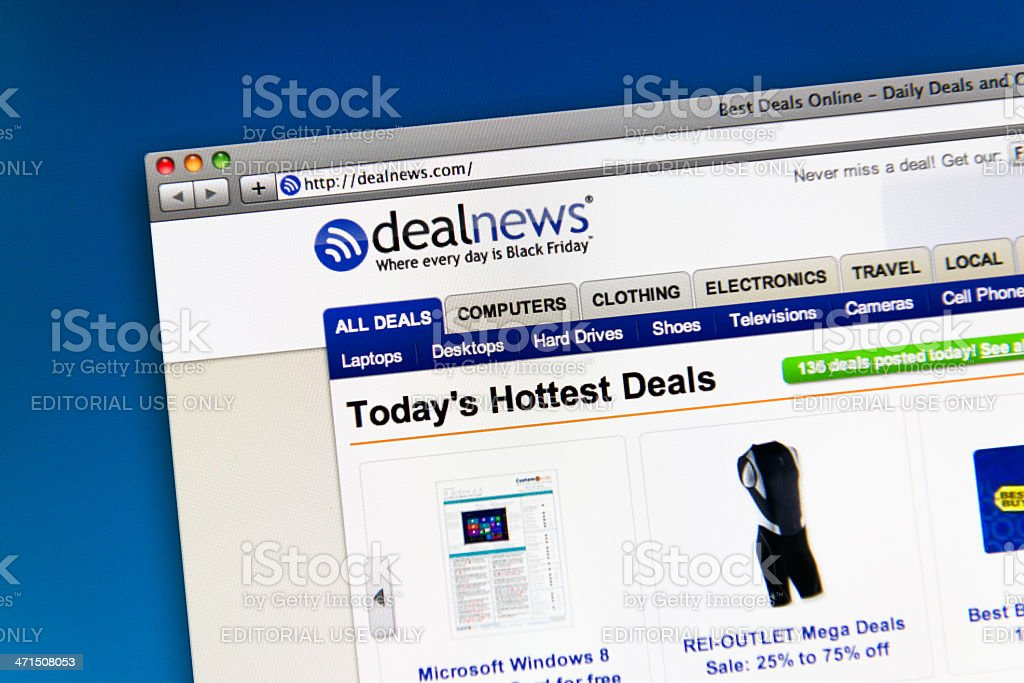 Dealnews homepage of website royalty-free stock photo