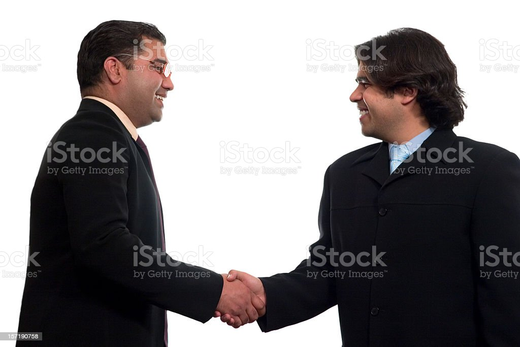 Deals done stock photo